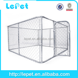 Dog Fence,Dog Run Box Kennel Chain-link Dog Enclosure 10x10x6