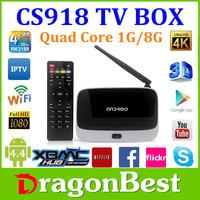 cs918 tv box RAM 1GB ROM 8GB Bluetooth Android 4.2 cs918 RK3188 Quad Core tv box cs918 android tv box