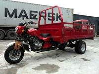 300cc 5 wheel Heavy Duty Truck Cargo Adult Tricycle Three Wheel Motorcycle