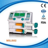 MSLIS02W High Atmospheric Pressure Medical Infusion Syringe Pump with Double Channel Infusion