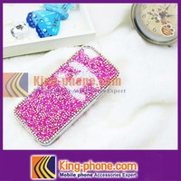Custom Hand Made Candy Color Full crytal stone Diamond Bling Mobile Cell Phone Case for Iphone 5/5s