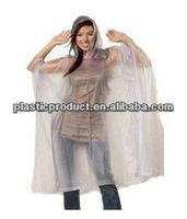 plastic clear rain poncho