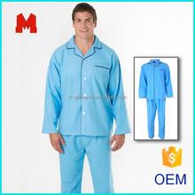 men's cotton flannel long sleeve sleepwear
