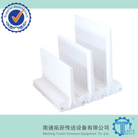 Raised Rib 400 Plastic Conveyor Belt with Base Flights for Food Grade