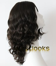 Best Monofilament Skin Top Mongolian Human Hair Sheitels Curly Jewish Wig