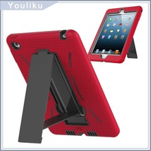 3 in 1 soft hard robot notebook laptop case with pc kickstand for ipad mini