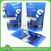 plastic pouch bag,food packaging aluminium foil bag with zipper