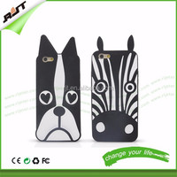 New Cute Cartoon Animal Design Love Dog Zebra Owl Soft Silicone Phone Cases Cover For iPhone 6 Case 4.7 Inch