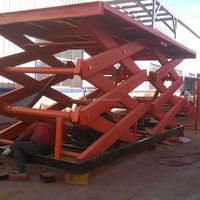 hydraulic scissor cargo lifter/car hydraulic scissor lift