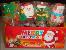 flat 3D christmas xmas series soft Lollipop Candy christmas tree jelly lollipop