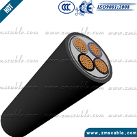 Low Voltage Copper conductor 300 sq mm Electric XLPE/PVC armoured underground dc power copper cable price per meter
