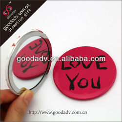Animal print mirrors Goodadv decoration factory Professional cosmetic purse mirrors