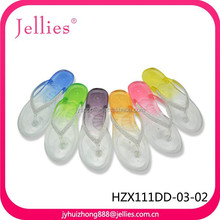 PVC Gradient Color Flip Flop Jelly Slipper Shoes