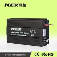 Smart design electric bike battery charger ac 220v dc 12v 300Ah battery charger with short circuit Smart design KEX-30A