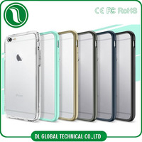 Hot selling TPU+PC Clear case for iphone6 case ultra thin cover case