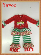 2015 girls christmas tree baby girl clothing set wace ruffle spanish baby clothes christmas clothes for kids wear winter outfits