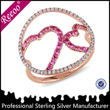 Latest popular rose gold cluster ring fashion jewelry 2015