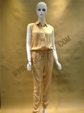 Original Design Fashion OEM Jumpsuits Women Noble High-end Gold Artificial Silk Jumpsuits