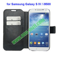 Fine Sheepskin Texture Leather Case with Credit Card Slot and Holder for Samsung Galaxy S IV i9500