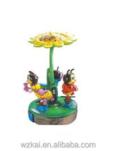 Mini Carousel Small Bee Style Animal Merry Go Round for Kids Rides Indoor ,merry go round
