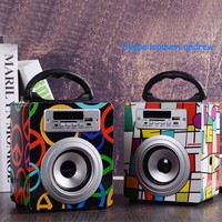 Colorful Portable USB Port/FM Radio/SD Card Reader Music Playing Multimedia Wireless Bluetooth Speaker