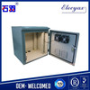 10U Outdoor Cabinet SK-185F/Pole mount steel enclosure/Weatherproof metal case with fan cooling