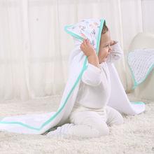 LAT towel children organic cotton muslin blanket dry baby towel