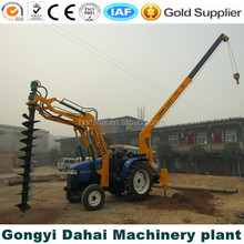 Hydraulic Tractor-Mounted Rotary Pile Driver