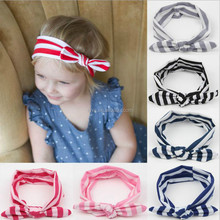 Hot Sale Knotted Baby Headband Cotton Stripe Headbands