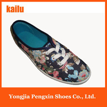 The Chinese characteristic Printed flower women canvas shoes