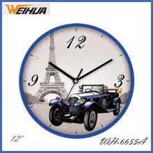 12 inch cartoon car shape wall clock for gift