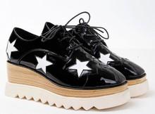 Wholesale black color women fashion shoes women high heel sneakers