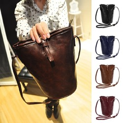2015 Women Fashion Synthetic Leather Small Bucket Style Hasp Trendy Handbags Shoulder Bag