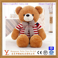lovely plush animal toy chubby teddy bear plush toy with sweater & bowknot