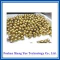 colgante de aceroinoxidable decorativa de oro y plata bolas huecos