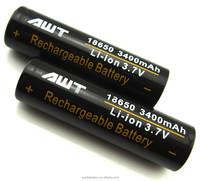 AWT 18650 3400mAh Battery 3.7v Rechargeable Battery 18650 Lithium Battery E Shisha Lava Tube E-cig