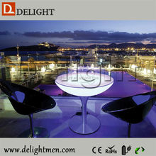 Outdoor color change led illuminated table/ artificial pussy desk light trophy/ promotional products special light led/