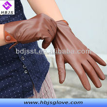 size L man motocycle driving genuine leather gloves with button