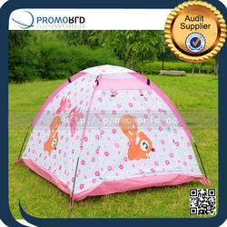 Portable Kids Tent Students Outdoor Camping Teepee Tent Pink Camping Tent