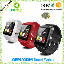 New Products sport watch connect with smart phone, bluetooth watch phone supplier, u watch