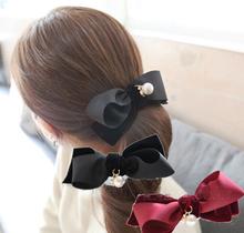D72257t 2015 new spring women's fashion velvet bow clip hairpin
