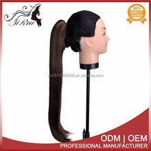 Heat resistant kanekalon synthetic ponytail hair extension, no tangle no shed hair weave
