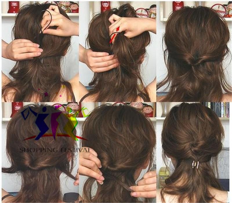 прически с помощью гребня для волос