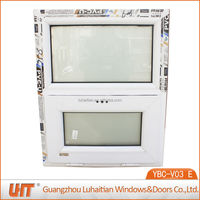 Kinbon profile frosted glass pvc awning window bathroom window