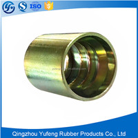 Brass hose ferrule for low pressure rubber hose, copper ferrule