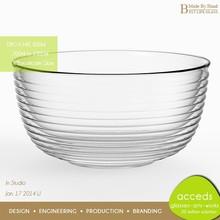 Modern Glass Punch Bowl, Creativity Safe Microwave Pyrex Glass Bowl