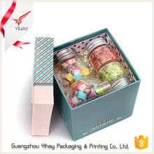 2015 Professional custom handmade luxury purple cardboard paper chocolate jewelry gift packaging box with lid