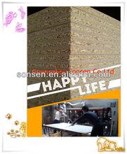 Wood Panel Melamina Aglomerado Laminado de Madera dura Combi Línea de Producción
