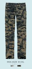 pantalón de estilo militar de camuflaje de impresión para los hombres