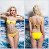 2015 new arrival YELLOW fashion hot sexy women bikini